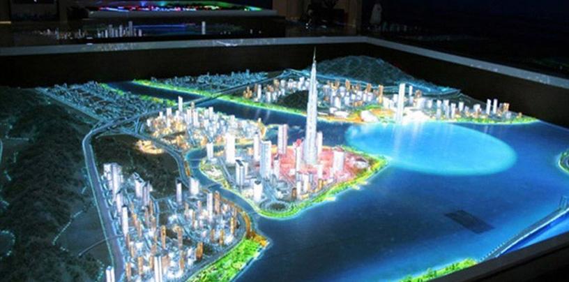 企业展厅设计效果图和平面图