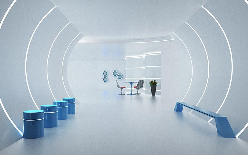 数字企业展馆的展示优势,设计效果图