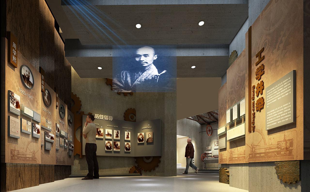 设计简约风多媒体展厅展馆需内容设计丰富而深刻-七全七美智能科技