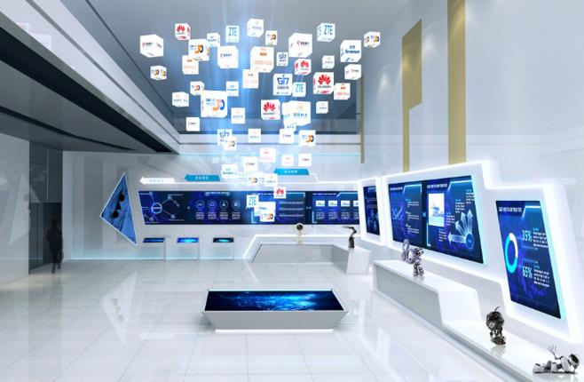 各类多媒体展馆中互动滑轨屏的应用