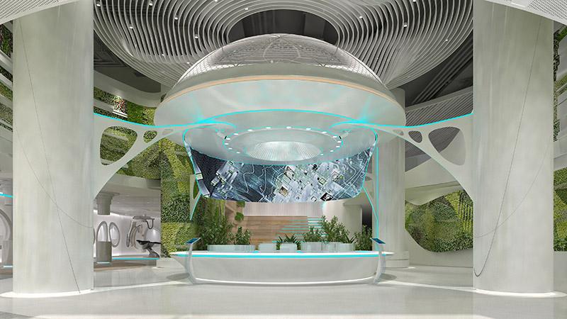 智慧城市展厅设计效果图